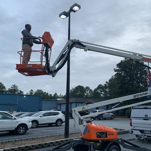parking lot lighting installed by Rytec Chapin SC