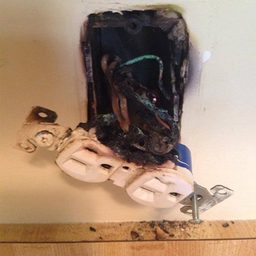safety inspection can prevent emergencies like fire in sockets