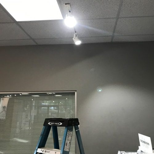 track lighting installed by Rytec Electric in a local business