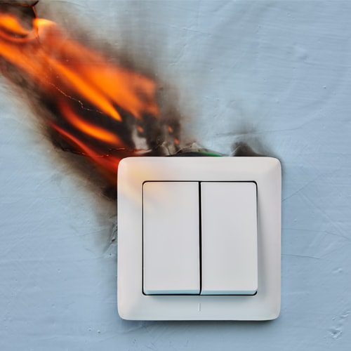 An electrical fire is extremely dangerous. Even if you get the fire out, you need to take immediate action.