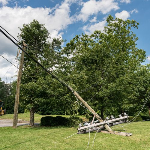 The most common cause of electrical outages is storm activity like lightning strikes, high damaging winds, and hail.