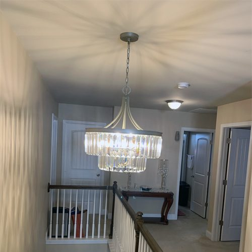 Outdated electrical systems in older homes can benefit from an upgrade of light fixtures.