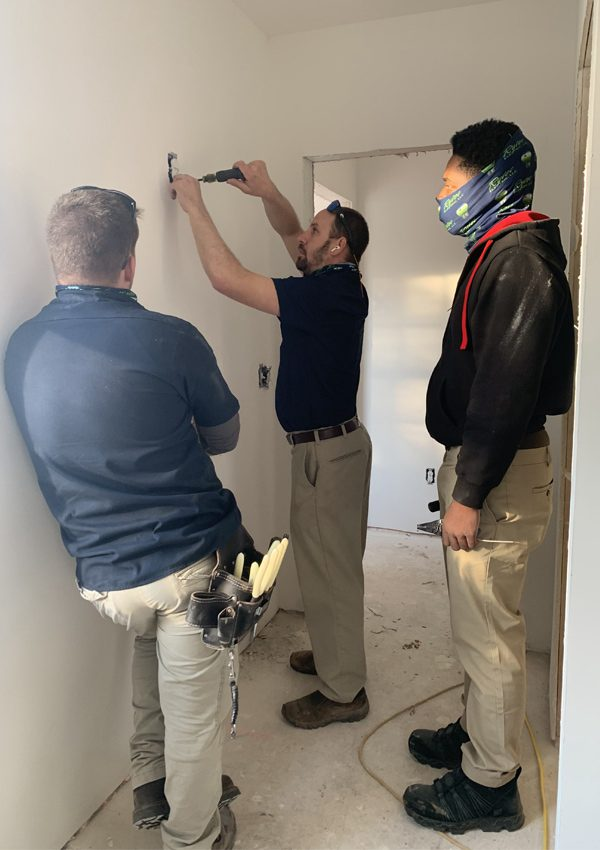 Residential electricians installing outlet in Columbia SC